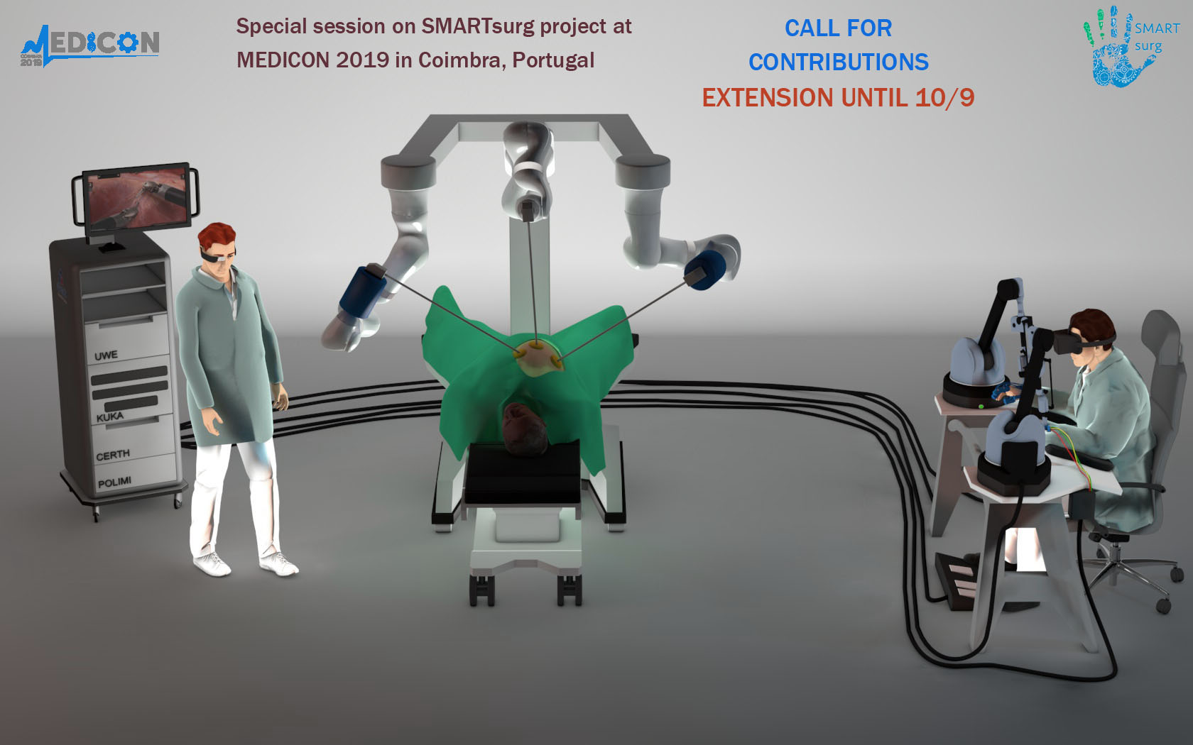 EXTENSION until 10/9 - Call for contributions - Special Session on SMARTsurg @ MEDICON 2019