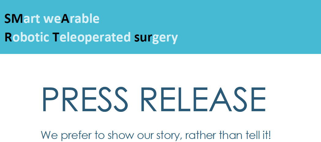 New SMARTsurg Press Release